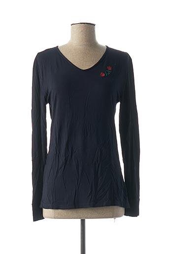 T-shirt manches longues bleu DENIM &DRESS pour femme
