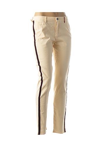 Pantalon casual beige DENIM &DRESS pour femme