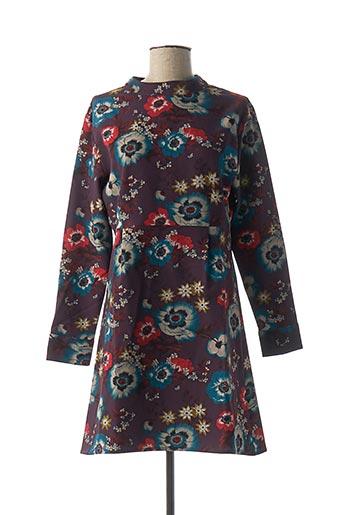 Robe mi-longue violet DENIM &DRESS pour femme
