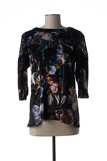 Tunique manches longues noir DENIM &DRESS pour femme