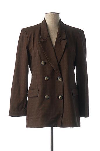 Veste chic / Blazer marron DENIM &DRESS pour femme