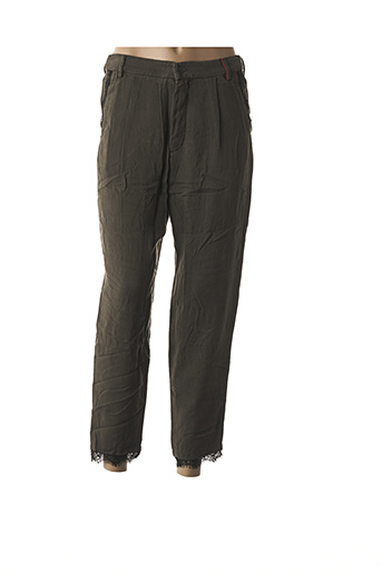 Pantalon 7/8 vert DENIM &DRESS pour femme