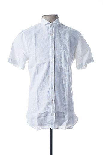 Chemise manches courtes blanc HUGO BOSS pour homme
