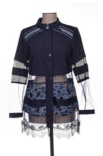 Veste casual bleu LESLIE pour femme