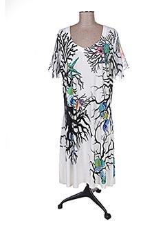 Robe mi-longue blanc FUEGOLITA pour femme