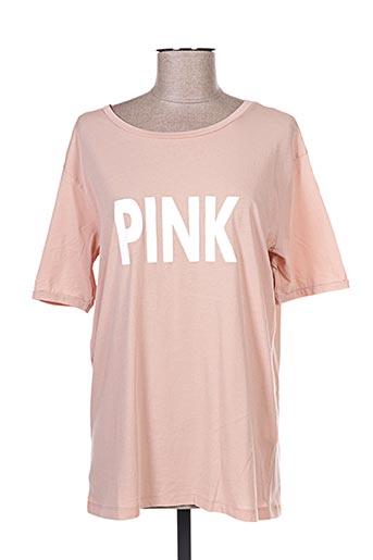 T-shirt manches courtes rose YAYA pour femme