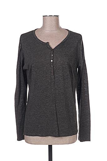 T-shirt manches longues noir CARLA KOPS pour femme