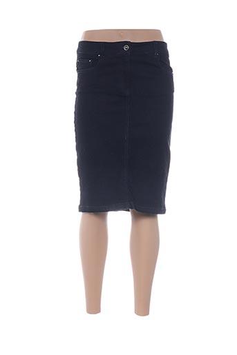 Jupe mi-longue bleu CARLA KOPS pour femme