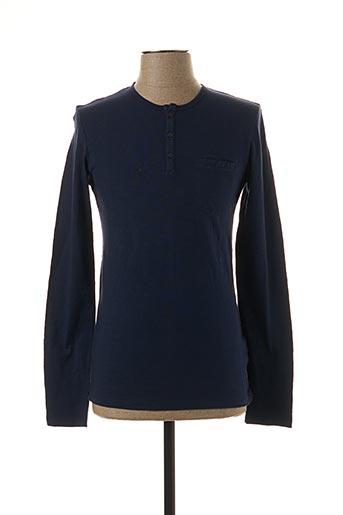 T-shirt manches longues bleu IKKS pour homme