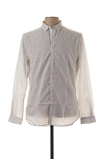 Chemise manches longues gris IKKS pour homme