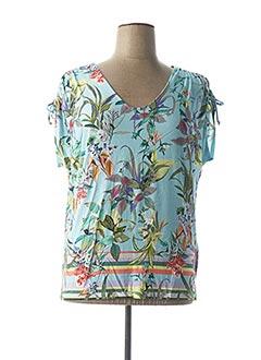 T-shirt manches courtes bleu BIANCA pour femme