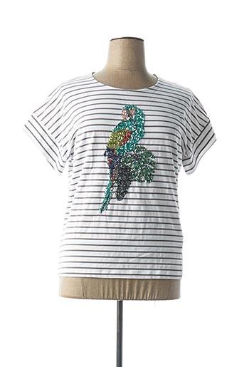 T-shirt manches courtes blanc BIANCA pour femme