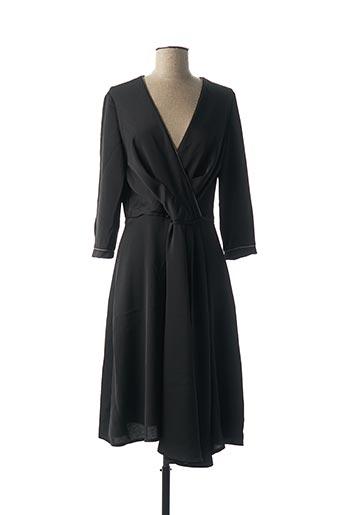 Robe mi-longue noir CARLA LOTTI pour femme