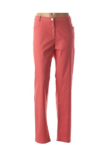 Pantalon casual orange CHRISTINE LAURE pour femme