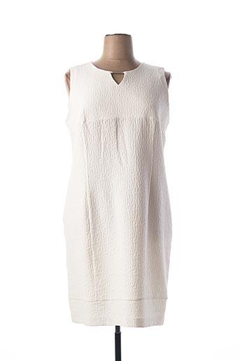 Robe mi-longue blanc CHRISTINE LAURE pour femme
