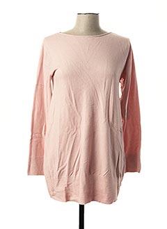 Pull tunique rose PPT pour femme