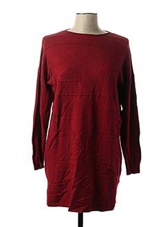 Pull tunique rouge PPT pour femme