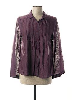 Chemisier manches longues violet AGATHE & LOUISE pour femme