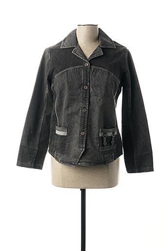 Veste en jean noir LES MARINS DE JAC JAC pour femme