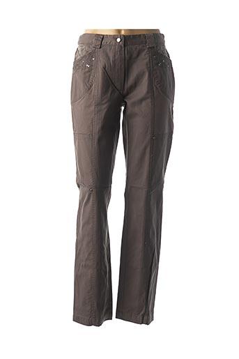 Pantalon casual gris JAC JAC pour femme
