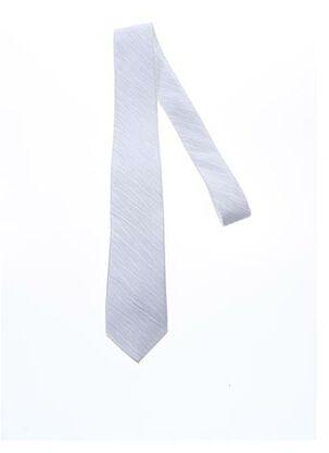 Cravate blanc CLAUDE GABRIEL pour homme