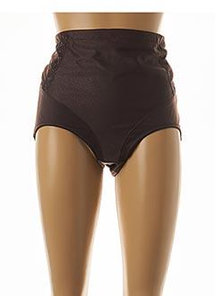 Culotte gainante marron FELINA pour femme
