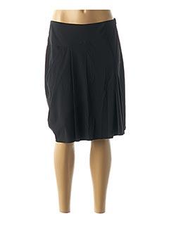 Jupe mi-longue noir AVENTURES DES TOILES pour femme