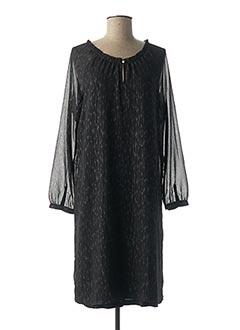 Robe mi-longue noir S.OLIVER pour femme