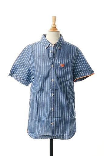 Chemise manches courtes bleu TOM TAILOR pour garçon