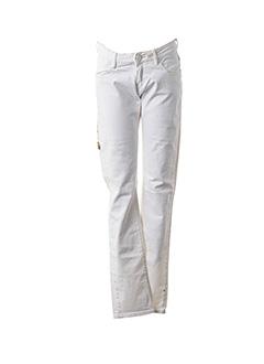 Jeans coupe droite blanc MAISON SCOTCH pour femme
