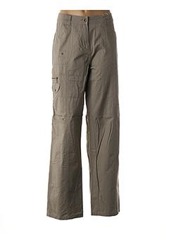 Pantalon casual beige FLEUR DE SEL pour femme