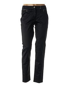 Pantalon casual noir FLEUR DE SEL pour femme