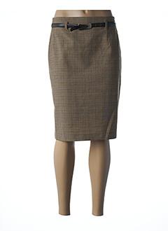 Jupe mi-longue marron ROSA ROSAM pour femme