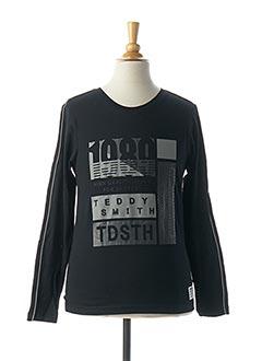T-shirt manches longues noir TEDDY SMITH pour garçon