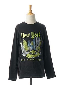 T-shirt manches longues noir BOBOLI pour garçon