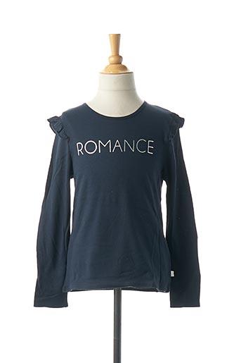 T-shirt manches longues bleu CARREMENT BEAU pour fille