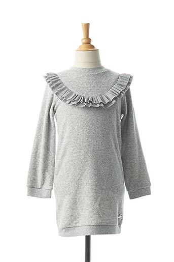 Robe pull gris CARREMENT BEAU pour fille