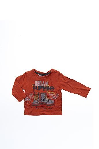 T-shirt manches longues orange BOBOLI pour garçon