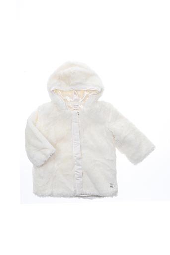 Manteau long blanc CARREMENT BEAU pour fille