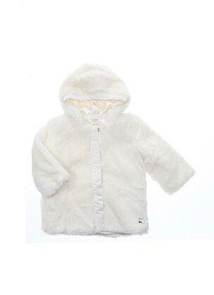 Manteau long blanc CARREMENT BEAU pour fille