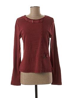 T-shirt manches longues rouge JAC JAC pour femme