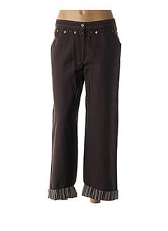 Pantalon 7/8 marron JAC JAC pour femme