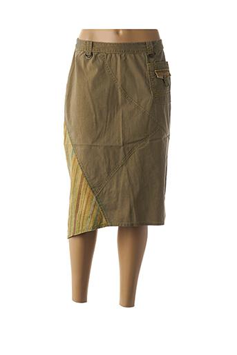 Jupe longue vert JAC JAC pour femme