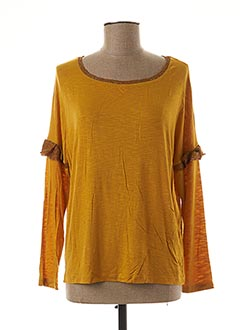 T-shirt manches longues jaune AN' GE pour femme