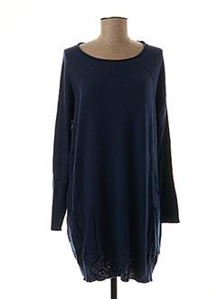 Pull tunique bleu ODEMAI pour femme