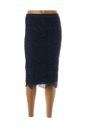 Jupe mi-longue bleu AN' GE pour femme