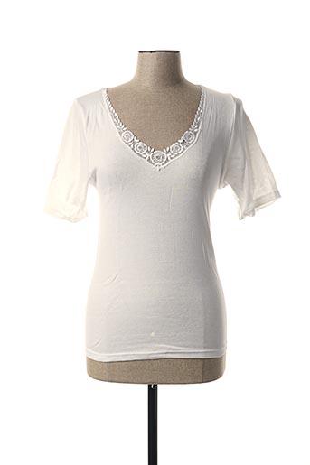 T-shirt manches courtes blanc CON-TA pour femme