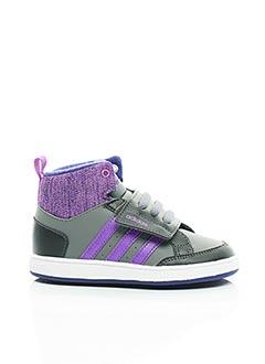 Baskets gris ADIDAS pour fille