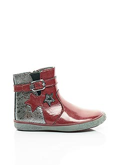 Bottines/Boots rouge NOËL pour fille