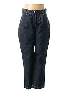 Jeans coupe droite bleu PETIT BATEAU pour fille